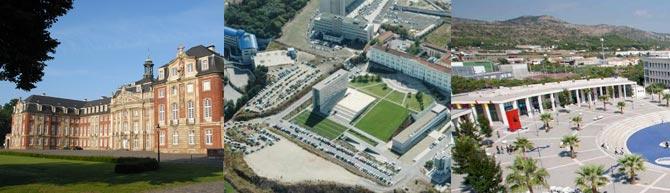 Views of the 3 universities campus: WWU Münster/Photo by Peter Grewer- Universidade Nova - UJI